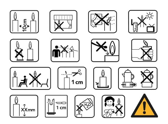 κανόνες ασφαλείας κεριά